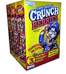 Cap\'N Crunch\'s Crunch Berries 3 Pantry Friendly Boxes - 13 oz Each