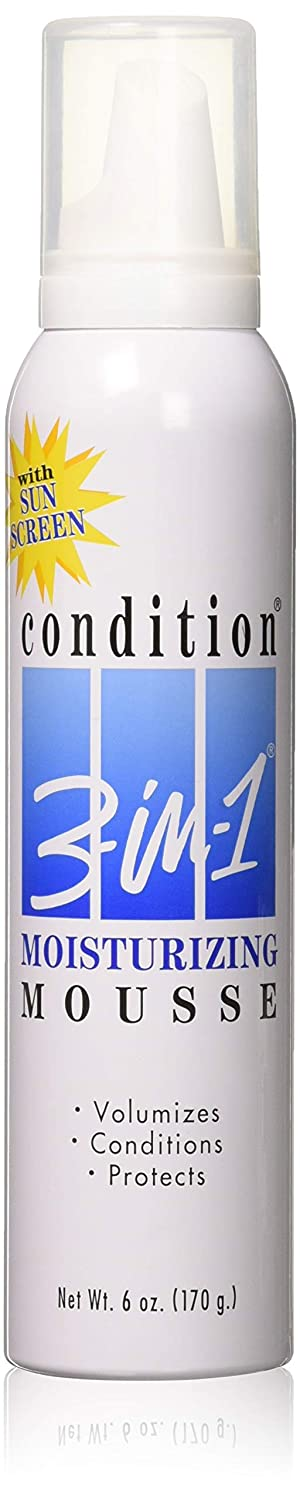 Condition 3-N-1 Mousse 6 Ounce Moisturizing With Sunscreen (177ml) (3 Pack)