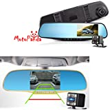 MotoPanda 4.3-inch 1080P Full HD Dashboard Rearview Mirror Car Recorder with Night Vision