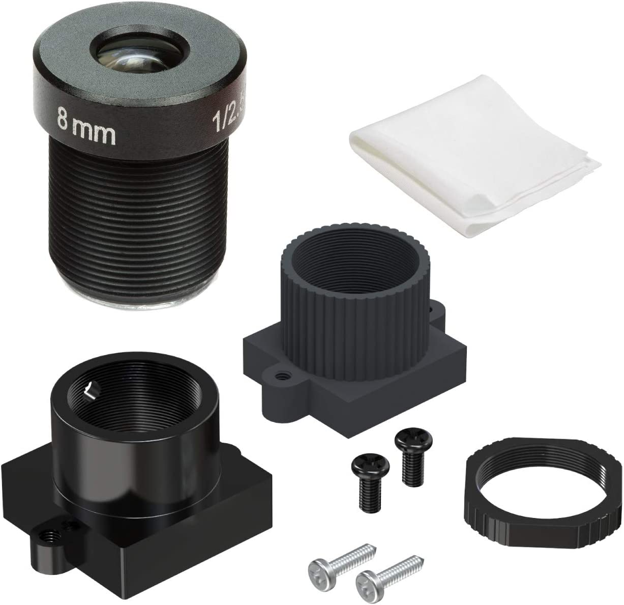 "Arducam Telephoto M12 Lens, 1/2.5"" 8mm Long Focal Length Lens with Length Holder for Arduino and Raspberry Pi Camera, CCTV Security Camera"