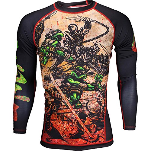 (Fusion Fight Gear TMNT Book One BJJ Rash Guard Compression Shirt (L))