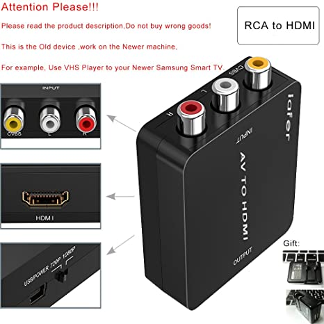 RCA To HDMI AV Support 720p 1080p Composite Video