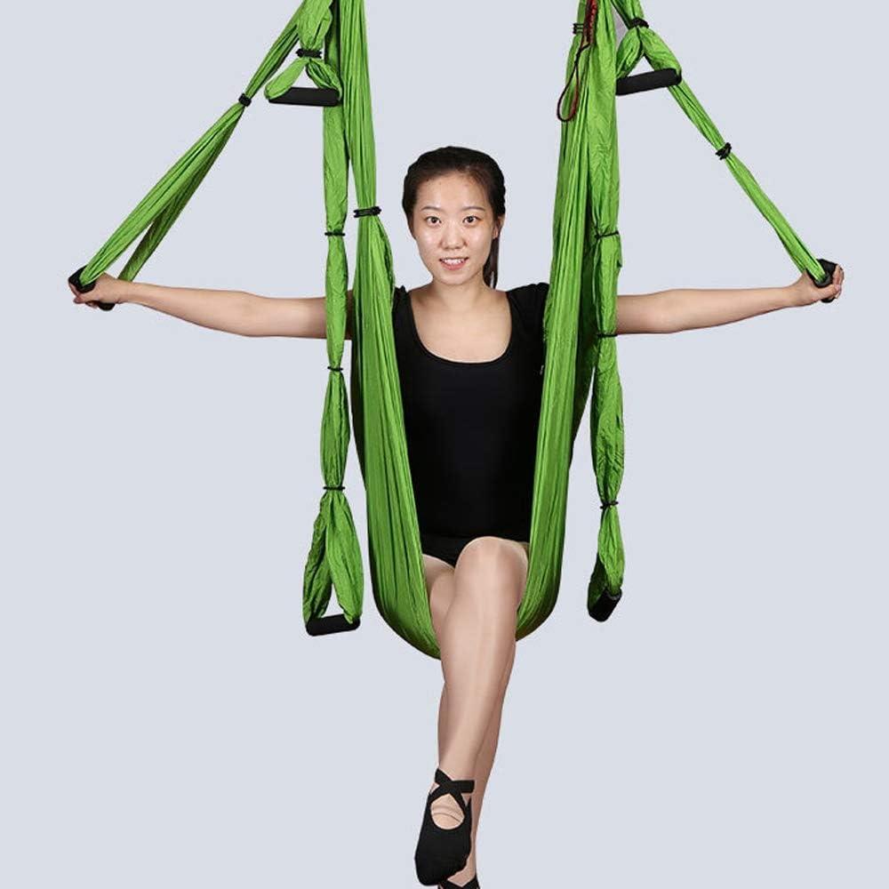 HBBOOI Yoga aérea Hamaca Cubierta Micro Nylon elástico for Adultos Hamaca Yoga con la Cuerda de la Margarita Extensible for Antigravity Ejercicio con Asas Ajustables Correas de extensión (Color : B)