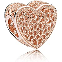 PANDORA Charm Rose Gold Filled with Romance Openwork Charm
