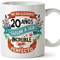 """MUGFFINS Taza 20 Cumpleaños -""""Me ha llevado 20 años llegar a ser increíble y casi perfecto - Regalos Desayuno Feliz…"""
