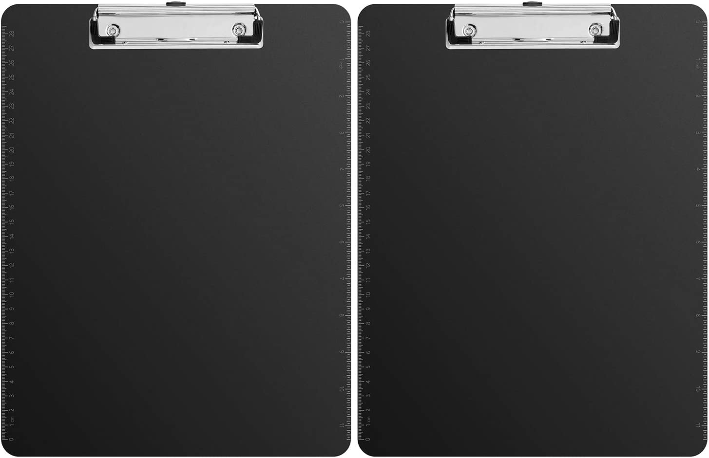 AmazonBasics Plastic Clipboards, Black, 2/Pack