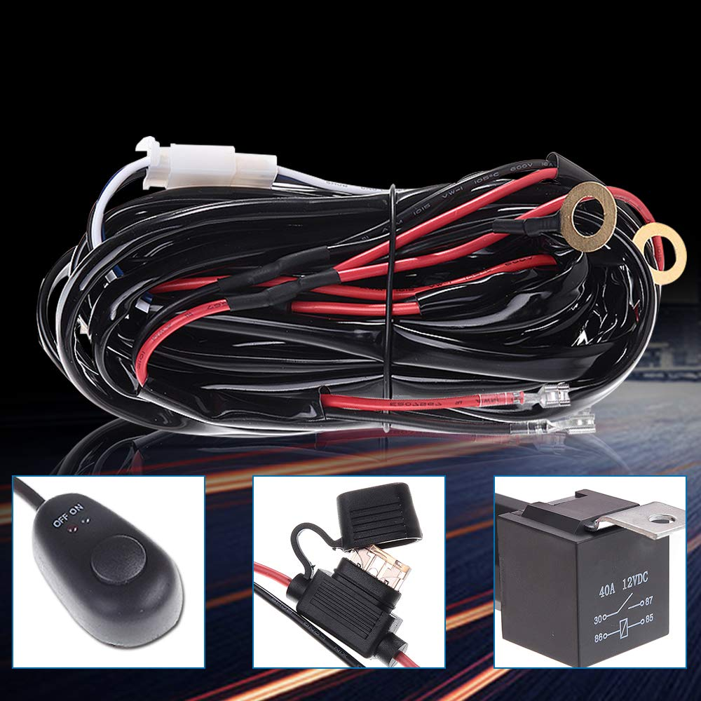 3 Lead Wiring Harness On Off Rock Switch Relay Led Light Bar For 40 Amp Kit Arctic Cat 12v