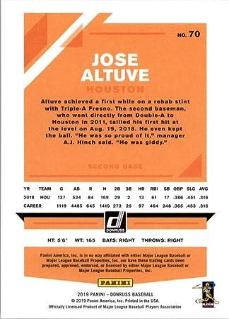 2019 Donruss Baseball Variations #70 Jose Altuve Houston ...