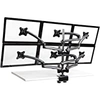 Cotytech Six Monitor Desk Mount Spring Arm Clamp Base, Dark Gray (DM-GM616-C)
