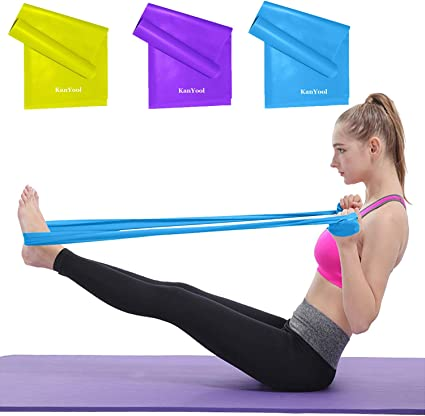 Resistance Bands Set 5 Packs Exercise Loop Bands Latex Exercise Bands Stretch Strength Training Pull Ring Therapy Pilates Yoga Sport Bands