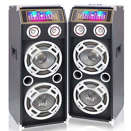 Pyle PSUFM1035A + PSUFM1030P Speaker System Set (Enclosure Ported 10' Subwoofer)