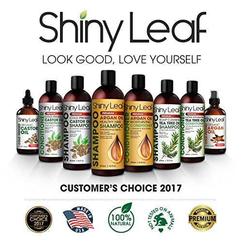 Shiny Leaf Cold Pressed Castor Oil Conditioner – Premium Hair Regrowth Conditioner with Cold Pressed Castor Oil, For All Hair Types, Moisturizes Hair, Keeps Hair Silky Soft and Smooth, 16 oz (473ml) by Shiny Leaf (Image #6)