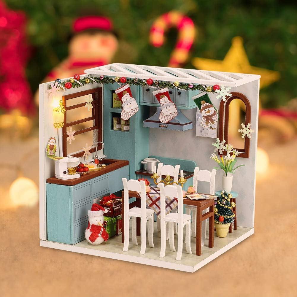 huyiko 1 Pc 1:12 Maison De Poup/ée 6 Grilles Porte en Bois Miniature DIY Mat/ériel De Construction Int/érieur