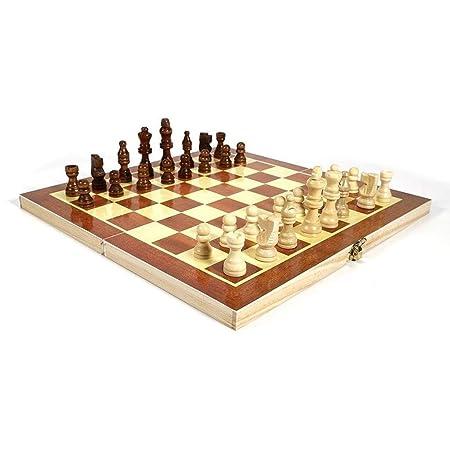 Ajedrez Juego de ajedrez internacional de madera plegable Juego de ...