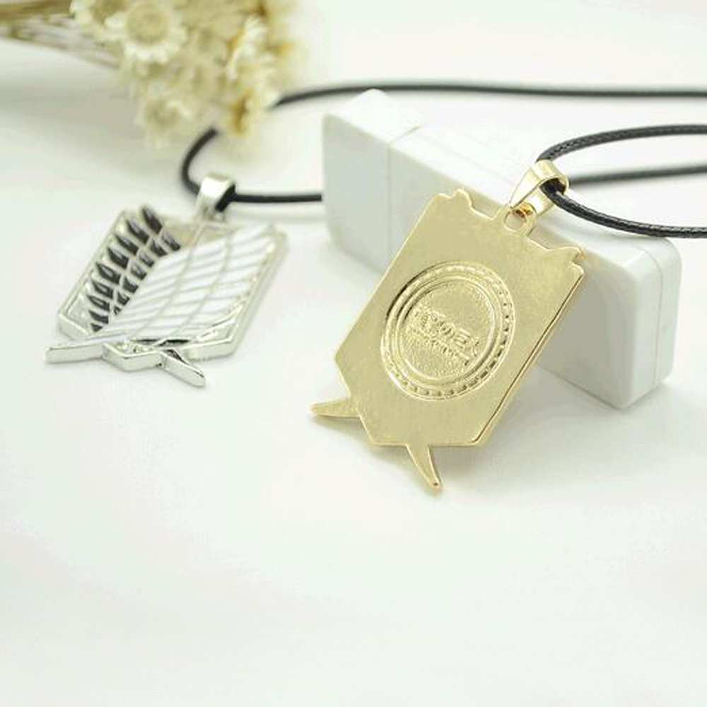 Main Stone Color: Silver Gabcus Metal Anime attack on the wings of freedom titanium necklace Shingeki no Kyojin cosplay necklace shell necklace necklace survey