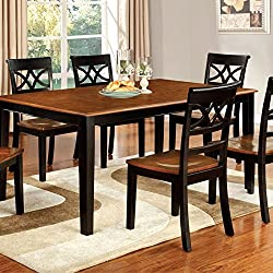 247SHOPATHOME IDF-3552BC-T-5PC Dining-Room, 5-Piece Set, Black and Cherry