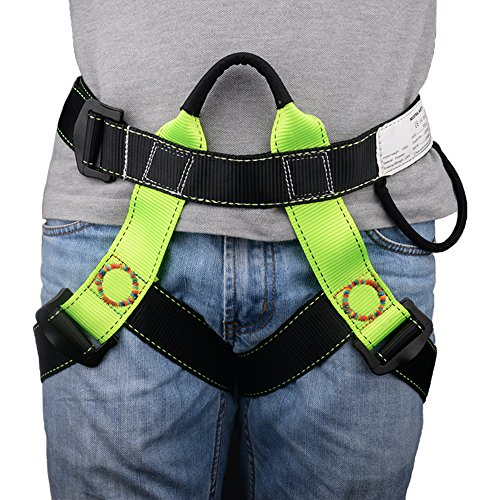 Brightfour Climbing Harness, Half Body Beginner Harness, Safety Belt Harness for Mountaineering Fire Rescuing Rock Climbing Tree Climbing Roof Working by by Brightfour