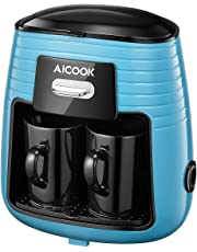 Aicook Cafetera de Goteo, Cafetera Electrica de un Solo Botón, Mini Cafetera Portátil con