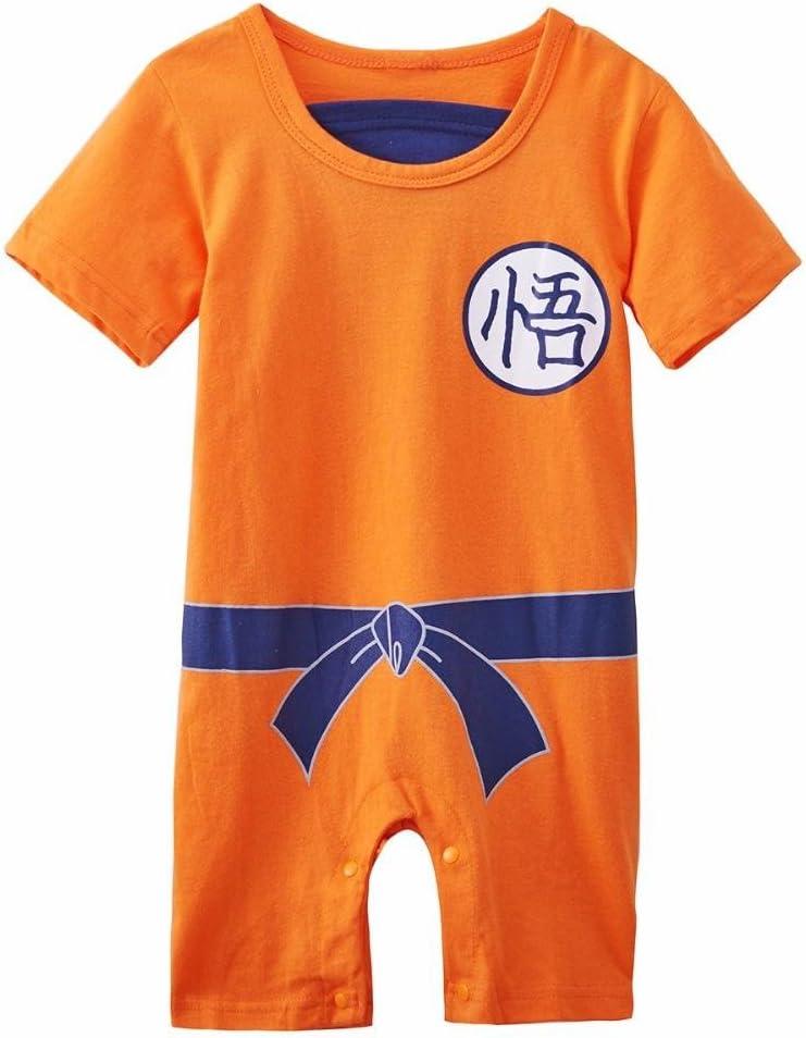 Ropa para bebé, diseño súper heroe DBZ, body pijama para niños disfraz Goku, disfraz original y divertido, 100 % algodón. Talla:7-9 mois: Amazon.es: Ropa y accesorios