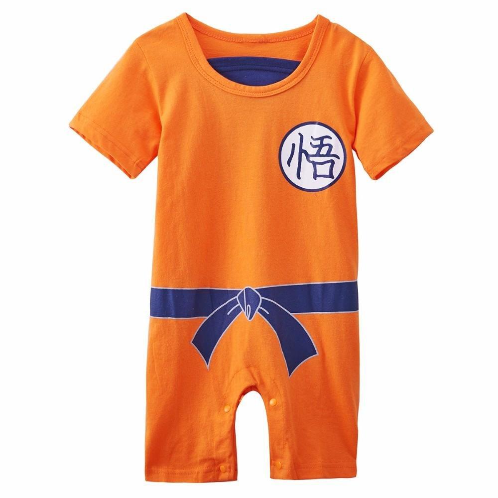 DBZ Cotton Superhero Goku Design Babygrow Unique and Funny Pyjama Bodysuit