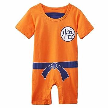 Ropa para bebé, diseño súper heroe DBZ, body pijama