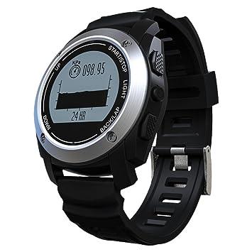 Pantalla táctil reloj inteligente inalámbrico pulsera anti-lost para Android Apple iOS Samsung manos libres teléfono inteligente reloj con GPS reloj ...