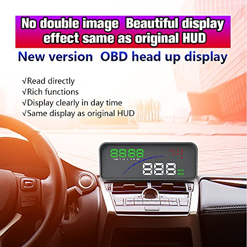 YICOTA Universal Head Up Display For Cars With OBDⅡ And EU-OBD Port 12V Multifunction HUD Speed RPM Voltage Temperature Display And Windshield Reflector by YICOTA (Image #7)