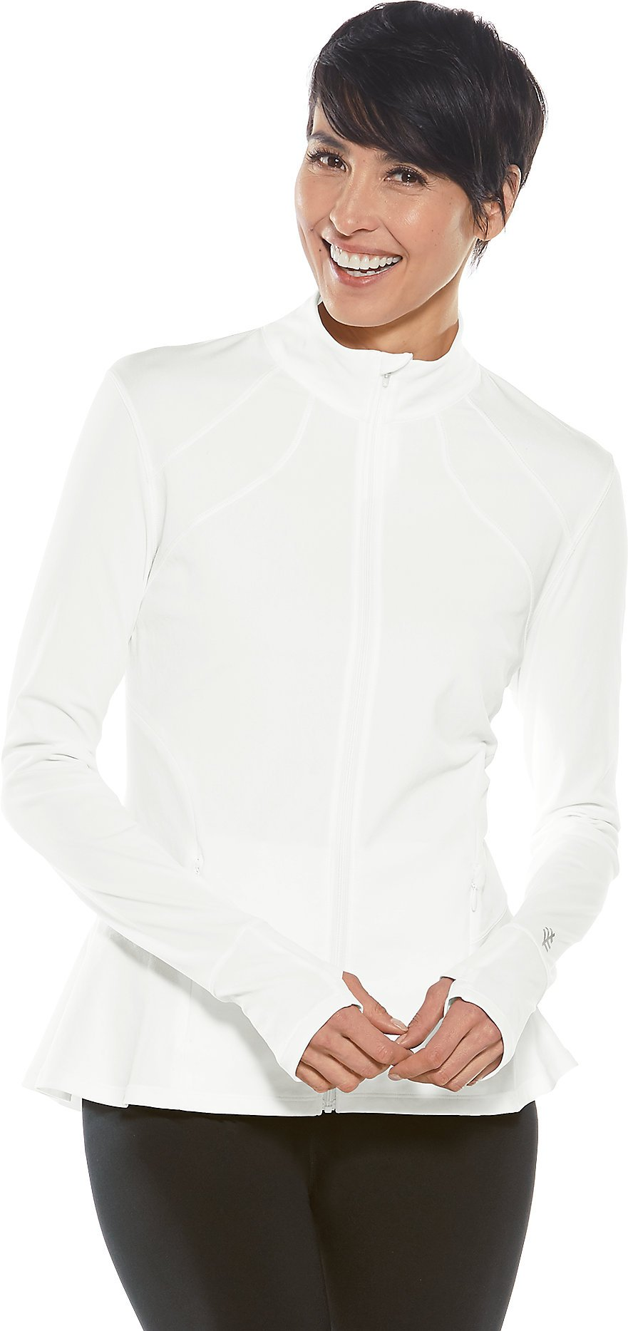 Coolibar UPF 50+ Women's Diamond Cove Swim Jacket - Sun Protective (Medium- White) by Coolibar