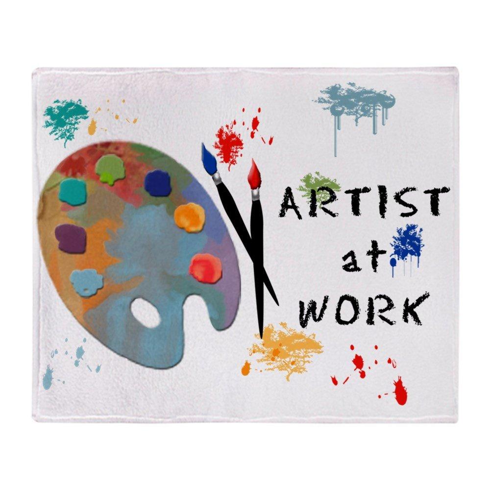 CafePress – Artist At Work – ソフトフリーススローブランケットブランケット、50