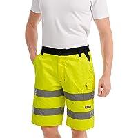 Mivaro Bermuda Alta Visibilidad, Pantalones Cortos de Trabajo para Hombre