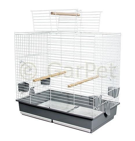 Jaula de pájaro jaula grande periquitos Papagayo libre abierto de vuelo Asiento Cabrio 70 cm