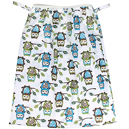 Teamoy Reusable Pail Liner for Cloth Diaper/Dirty Diapers Wet Bag, Owls Green