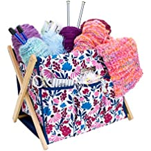 Everything Mary Fold-Up Knitting and Yarn Storage Caddy | Organizer Bin for Yarn, Knitting, and Crochet Accessories |