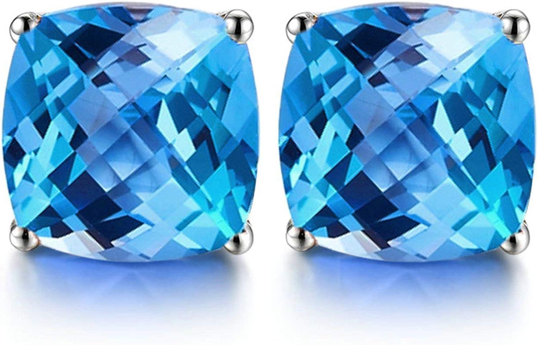 Pendientes de Zafiro Diamantes de 1ct Blisfille Joyería Pendiente Mujer Oro Pendientes Plata Mujer Pendientes de 18K Oro
