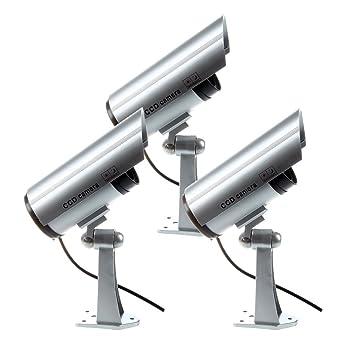 TOOGOO 3 x Camara de Seguridad CCTV Vigilancia Imitacion Al Aire Libre Camara de Vigilancia de