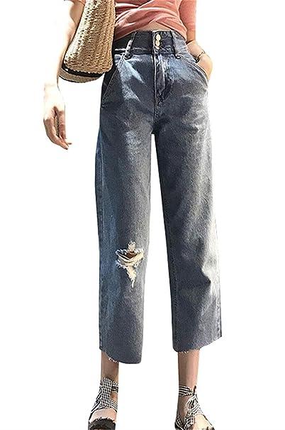 Pantalones Vaqueros De Mamá Relajada Pantalones Casuales De ...