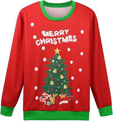 Tstars Dabbing Santa Ugly Christmas Sweater Gift for Boys//Girls 6yr 12yr Kids Sweater