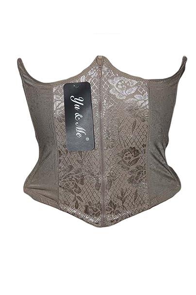 SECRETDRESSING – Corsé victoriano – Corrugado invernadero talla vientre plana Burlesque Goth color chair – tamaño