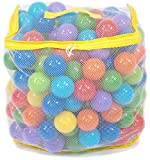 EWONDERWORLD 200 Count Non-Toxic BPA & Phthalate Free Crush Proof Plastic Play Balls with 8 Vibrant Colors and Mesh Bag - Pit Balls for Kids & Toddlers, Playpen Balls, Play Balls for Ball Pit