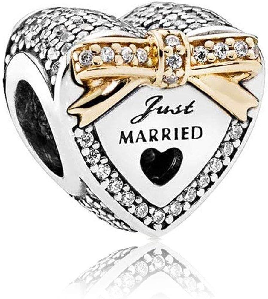 Amazon Com Romantico Amor Wedding Day Charm Just Married Gold