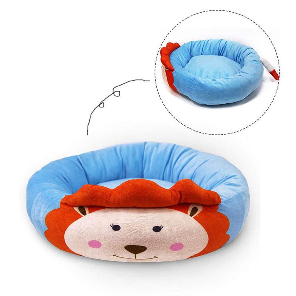 Lion Free Lion Free Kennel Pets Teddy Husky Doghouse Puppy Doghole Cushion Animal Pattern Lion