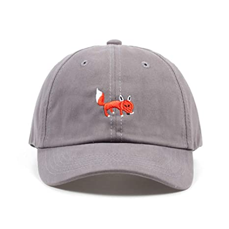 Yhtdhaq Unisex Red Fox Bordado Gorra de Béisbol Papá Sombreros ...