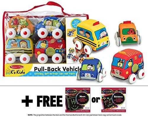 K's Kids Pull-Back Vehicle Set + FREE Melissa & Doug Scratch