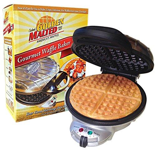 Carbon s Golden Malted Gourmet Waffle Baker