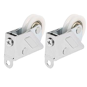 sourcingmap® 1,1 pulgadas de diámetro único rodillo ruedas 2pcs de polea para correderas ventana de guillotina: Amazon.es: Bricolaje y herramientas