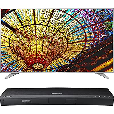 LG 65-Inch 4K UHD Smart TV w/ webOS 3.0 (65UH6550) with Samsung 3D Wi-Fi 4K Ultra HD Blu-ray Disc Player