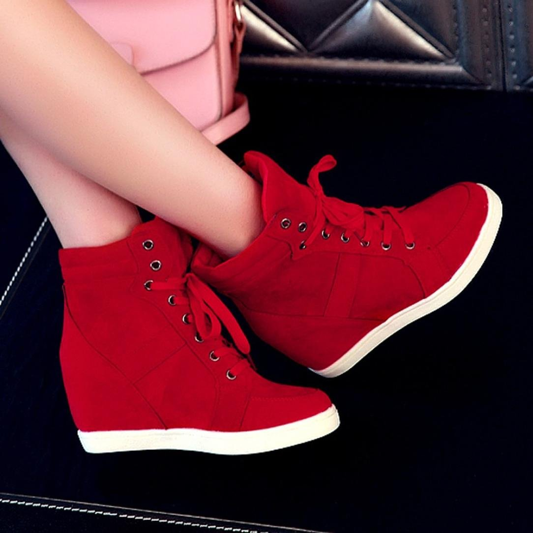 New Tootu Women Round Toe Lace-up Leather Boots Casual Party Shoes