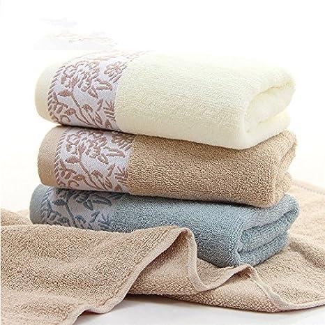 Toalla de cara de algodón agua suave espesa toalla de lavado de adultos para el hogar