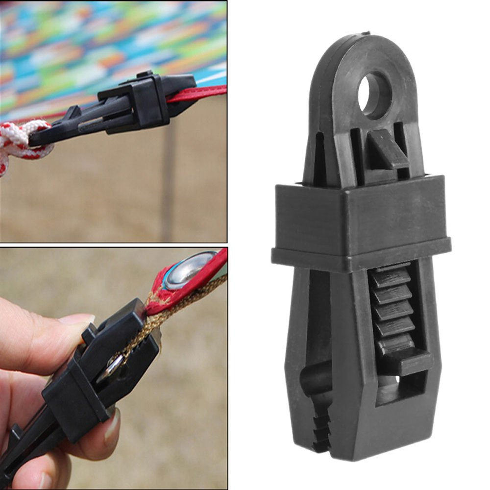 Camping Awning Clips Tents Awning Wind Rope Clamp Awnings Plastic Clip Tent Pull Point Outdoor Camping Tent Alligator Cip Hook Outdoor Plastic Clip Camping Tarp Clips Tents Awning Accessories