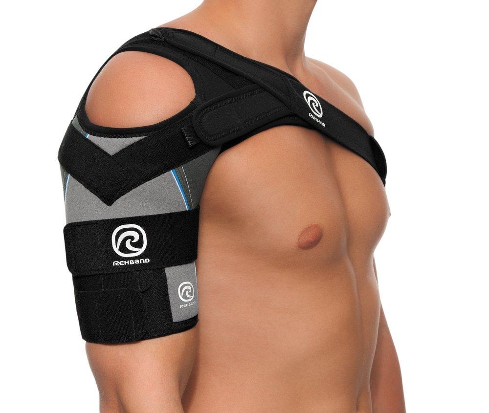 Rehband 7731 L right Shoulder X-Stable CL Grey & Black